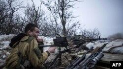 Позиции пророссийских сепаратистов в районе Дебальцева