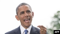 Президент США Барак Обама выступает с заявлением по Ираку 13 июня 2014 года.