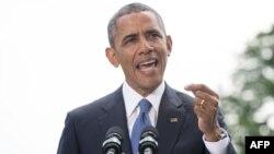 АҚШ президенті Барак Обама. Вашингтон, 13 маусым 2014 жыл.