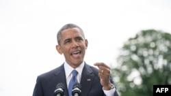 Президент США Барак Обама. Вашингтон, 13 июня 2014 года.