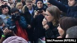 Xenia Sobceak în campanie la Kazan