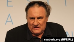 Gerard Depardieu speaks at a press conference in Cannes on May 22.