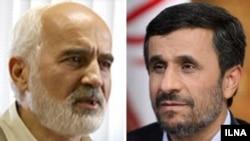 احمد توکلی، عضو کمیسیون بودجه مجلس (چپ)، محمود احمدینژاد، رییس جمهور (راست).