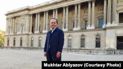 Проживающий во Франции бывший банкир Мухтар Аблязов, позиционирующий себя личным политическим противником президента Нурсултана Назарбаева. Париж, конец ноября 2017 года.