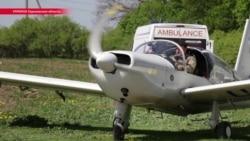 В Харьковской области волонтеры доставляют врачей к пациентам на самолетах