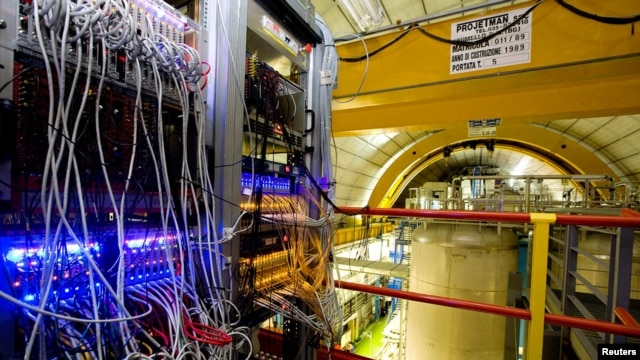 A handout photo of the OPERA detector at the LNGS (Gran Sasso National Laboratory) near L'Aquila, where CERN's particle research took place.