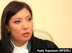 Медеу ауданының судьясы Венера Тоқтарбаева. Алматы, 1 қараша 2011 жыл.