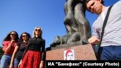 "Акция журналистов ИА ""Банфакс"" в Барнауле 13 августа"