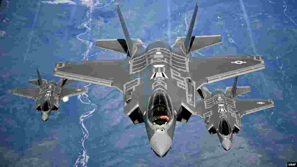 In 2016, the F-35 Lightning II, a smaller Lockheed Martin jet than the F-22, entered service in the U.S. Air Force. The jet was intended as a cheaper fifth-generation fighter.