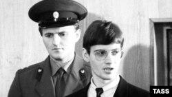 Матиас Руст в зале суда, 1987 год