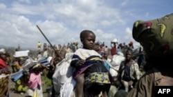 ده ها هزار تن از مردم کنگو از مناطق تحت کنترل شورشیان گریخته اند.(عکس: AFP)