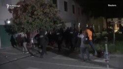 Protesta pas shembjes së Teatrit Kombëtar në Tiranë