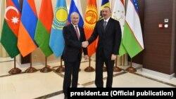 Vladimir Putin və İlham Əliyev. Moskva. 26dek2017