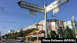 Pe strada independenței din Chișinău
