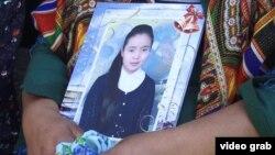 Убитая 20-летняя студентка медицинского колледжа Бурулай Турдаалы кызы. Ее пытались украсть с целью вступления в брак.