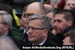 Броніслав Коморовський під час Маршу гідності у Києві, 22 лютого 2015 року