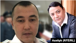 A composite photo of Kyrgyz ex-customs officer Emilbek Kimsanov (left) and his former boss Raimbek Matraimov.