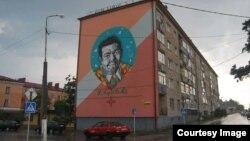 Партрэт Уладзімера Караткевіча ў Рагачове