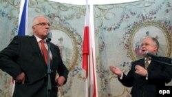 Чехия и Польша (на снимке президенты двух стран) одобрили предложение Вашингтона в принципе