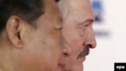 Сі Цзіньпін і Аляксандар Лукашэнка, архіўнае фота