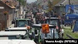Traktori tokom blokdade, Pančevo, 31. maj 2011