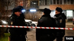 Полиция на месте убийства Ибрагима Эльджаркиева в Москве