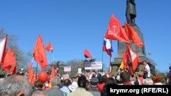Совместная первомайская демонстрация сторонников КПРФ и «Справедливой России» в Севастополе, 1 мая 2017 года