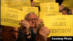 Акция польской киноакадемии в поддержку Олега Сенцова