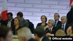 Նախագահ Սերժ Սարգսյանը Արևելյան գործընկերության գագաթնաժողովում, Ռիգա, 22-ը մայիսի, 2015թ.