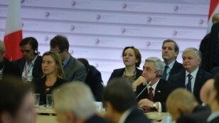 Президент Армении Серж Саргсян на саммите Восточного партнерства ЕС, Рига, 22 мая 2015 г.