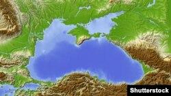 Чорне море на мапі, ілюстративне фото