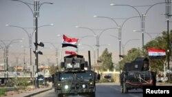 Ирак армиясынын Киркук шаарына келген согуштук техникалары. 16-октябрь, 2017-жыл.