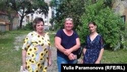 Жители дома на Восточной Надежда Тимошенко, Татьяна Гончарик, Валентина Стельмах