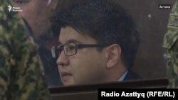 Бывший министр национальной экономики Казахстана Куандык Бишимбаев в суде по его делу. Астана, 31 октября 2017 года.