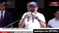 Armenia - Prime Minister Nikol Pashinian addresses a public meeting in Goris, Syunik province, July 5, 2018