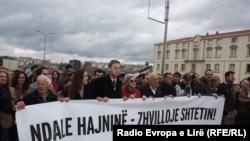 """Protesta """"Kundër hajnisë - për zhvillimin e shtetit"""""""