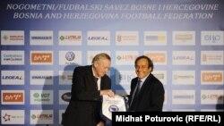 Ivica Osim i Michel Platini u Sarajevu