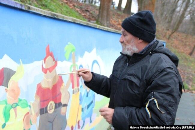 Тарас Носар працює у львівському парку