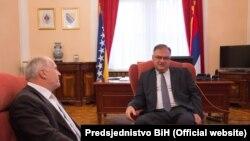 Visoki predstavnik Valentin Inzko i predsjedavajući Predsjedništva BiH Mladen Ivanić