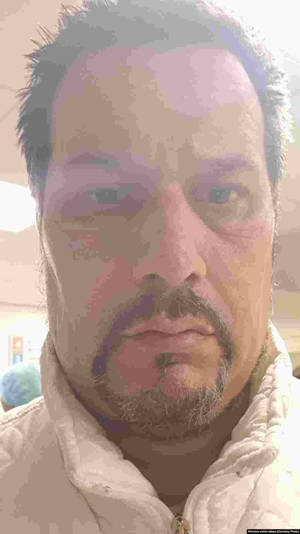 Doktor Radomir Janković na pauzi između smena, COVID bolnica Kliničkog centra u Nišu