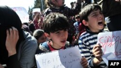Izbjeglice u kampu u Idomeniju.