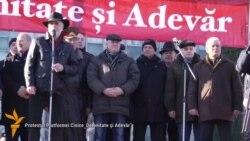Manifestații antagoniste la Chișinău