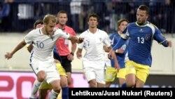 Pamje nga ndeshja Finlanda - Kosova 1:1 për kualifikimet për Kampionatin Botëror 2018