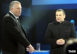 Володимир Жириновський (ліворуч) і Володимир Соловйов. Архівне фото