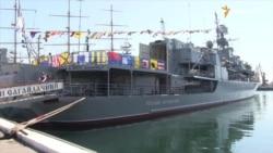Созданный в Крыму фрегат «Гетман Сагайдачный» празднует 22-й день рождения (видео)