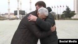 Спикер Народного собрания Дагестана Хизри Шихсаидов и глава Чечни Рамзан Кадыров, архивное фото