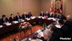 Armenia - An Armenian-Georgian working group on trade and economic issues meets in Yerevan, 24Dec2014.