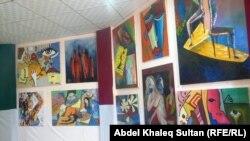 جانب من معرض المهرجان السنوي لمعهد الفنون الجميلة بدهوك