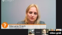 """Still from RFE/RL's 12 December Google+ Hangout discussion """"'Euromaidan' -- What's Ahead For Ukraine?"""""""