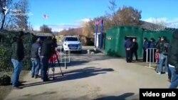 Пропускной пункт в зоне грузино-осетинского конфликта